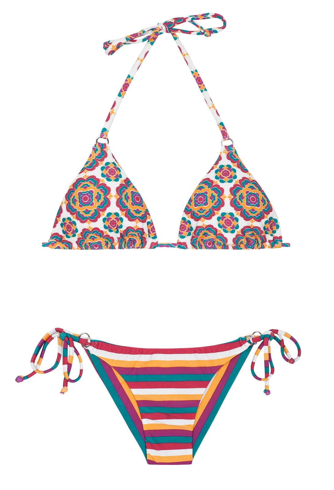 56a587414 Bikinis Bikini Brasileño Retro rayado - Beira Rio Cheeky