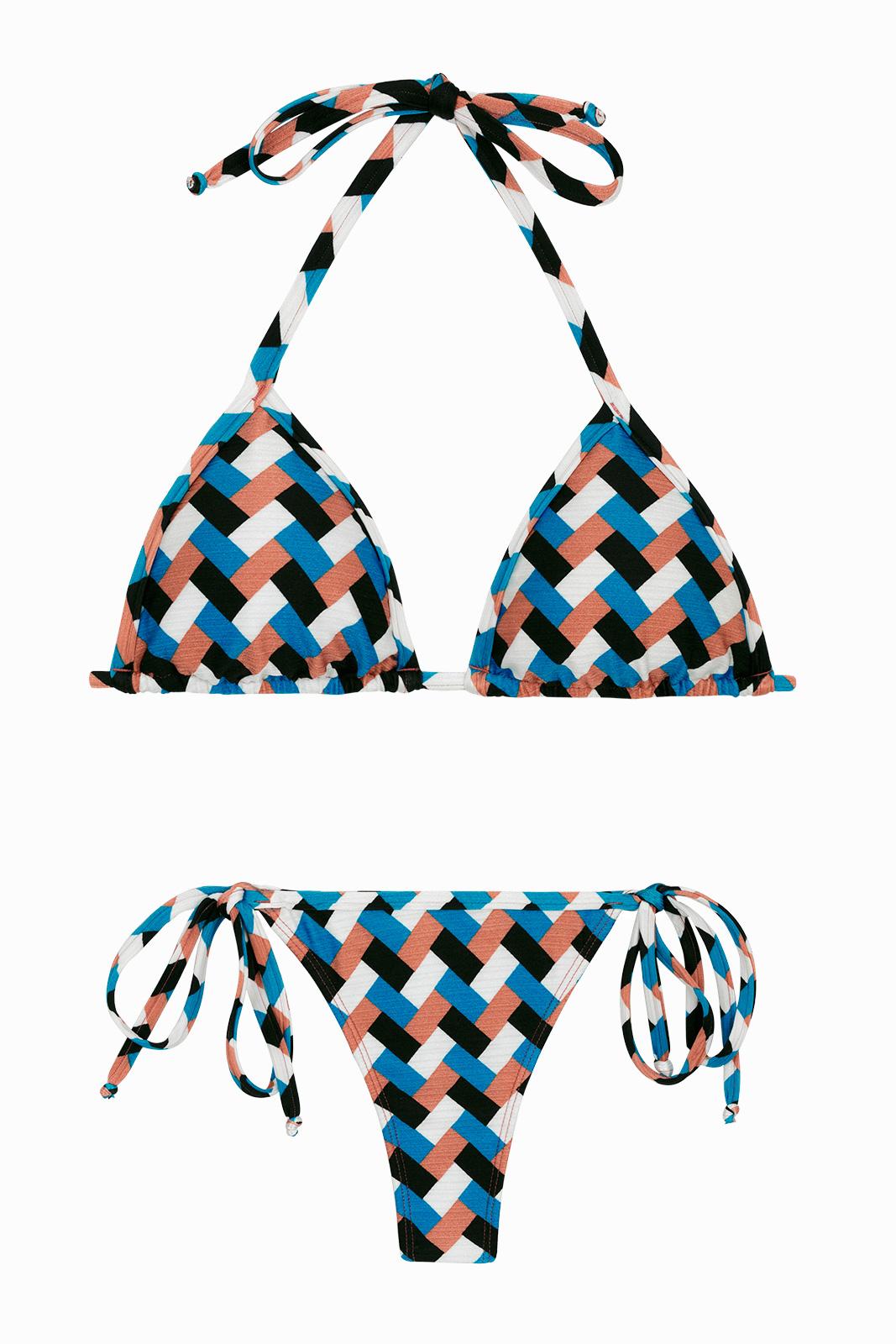 d834756c1221 Bikini Perizoma Brasiliano Con Stampa Geometrica - Geometric Micro