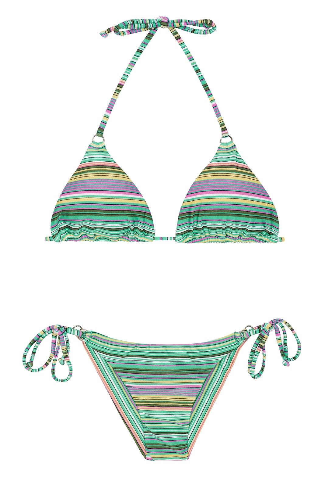 387814f77 Bikinis Bikini Brasileño Verde Con Rayas - Iemanja Cheeky