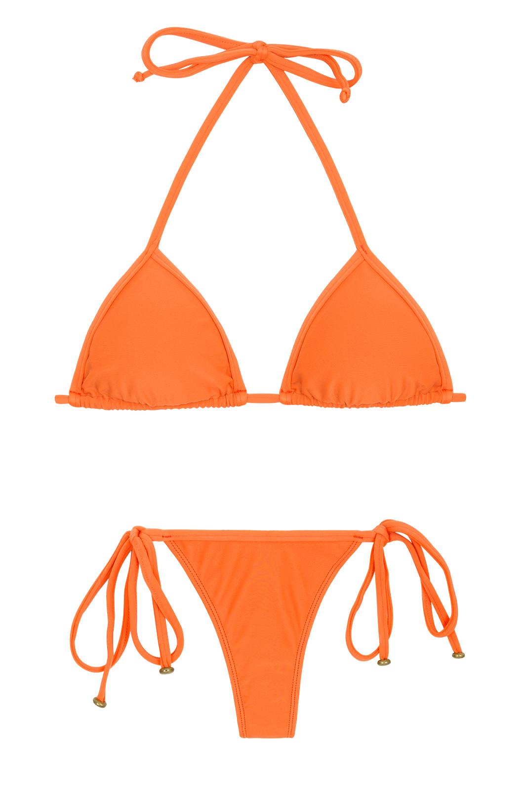 Bikini con pareo nero bianco rosso arancione tg 36 38 40