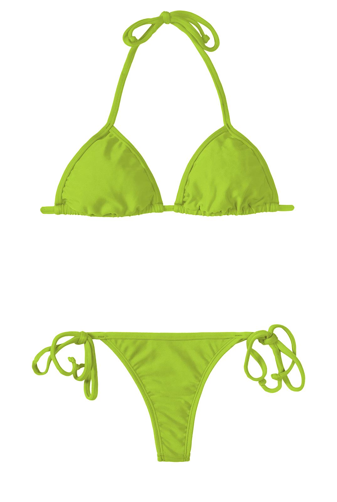 b5e52d49a6865 Bikini Bikini Perizoma Verde Mela E Top Scorrevole - Jureia Cort Micro