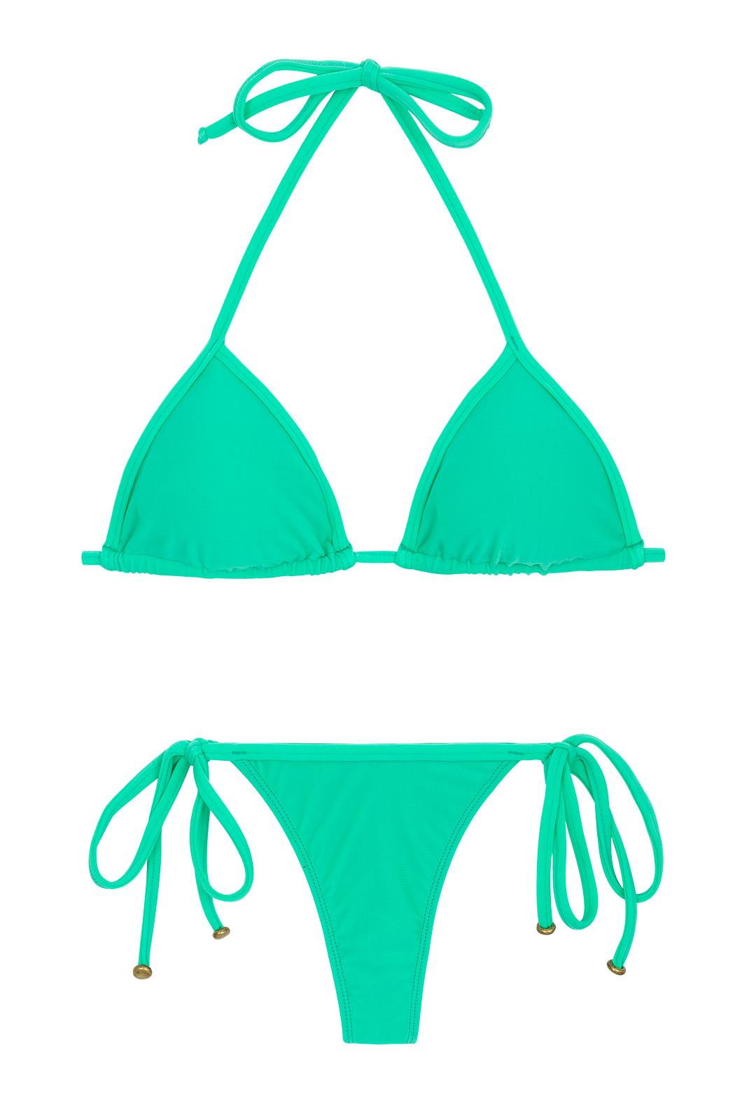 Two Piece Swimwear Green Side Tie String Bikini Maresia
