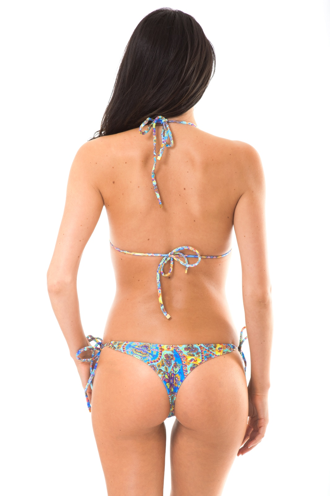 rio de sol thong bikini with vintage floral print sari. Black Bedroom Furniture Sets. Home Design Ideas