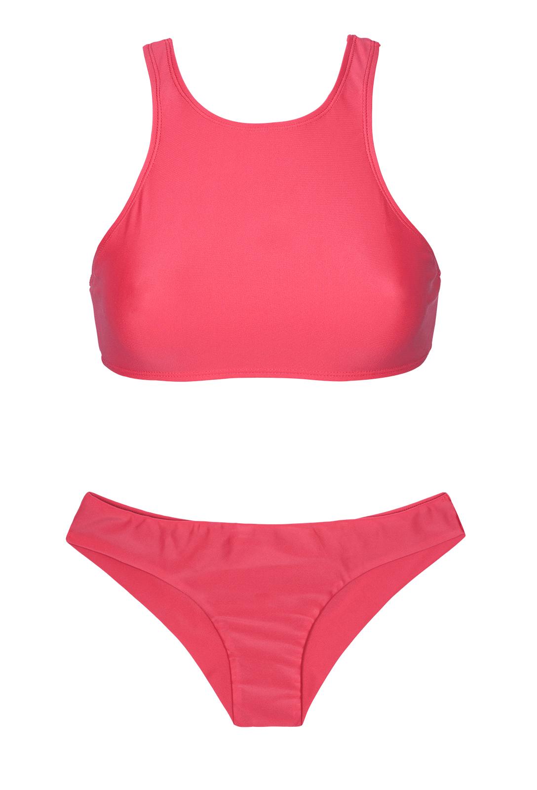 Sporttinen Tummanpinkki brasilialaistyylinen Bikini 3ffb6cd044