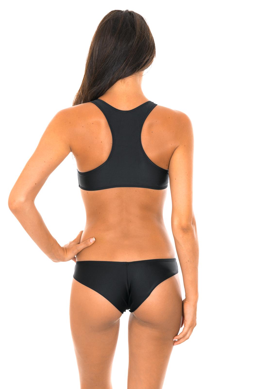 a0b655dcc1 Two Piece Swimwear Crop Top Sport Black Bikini - Sporty Preto