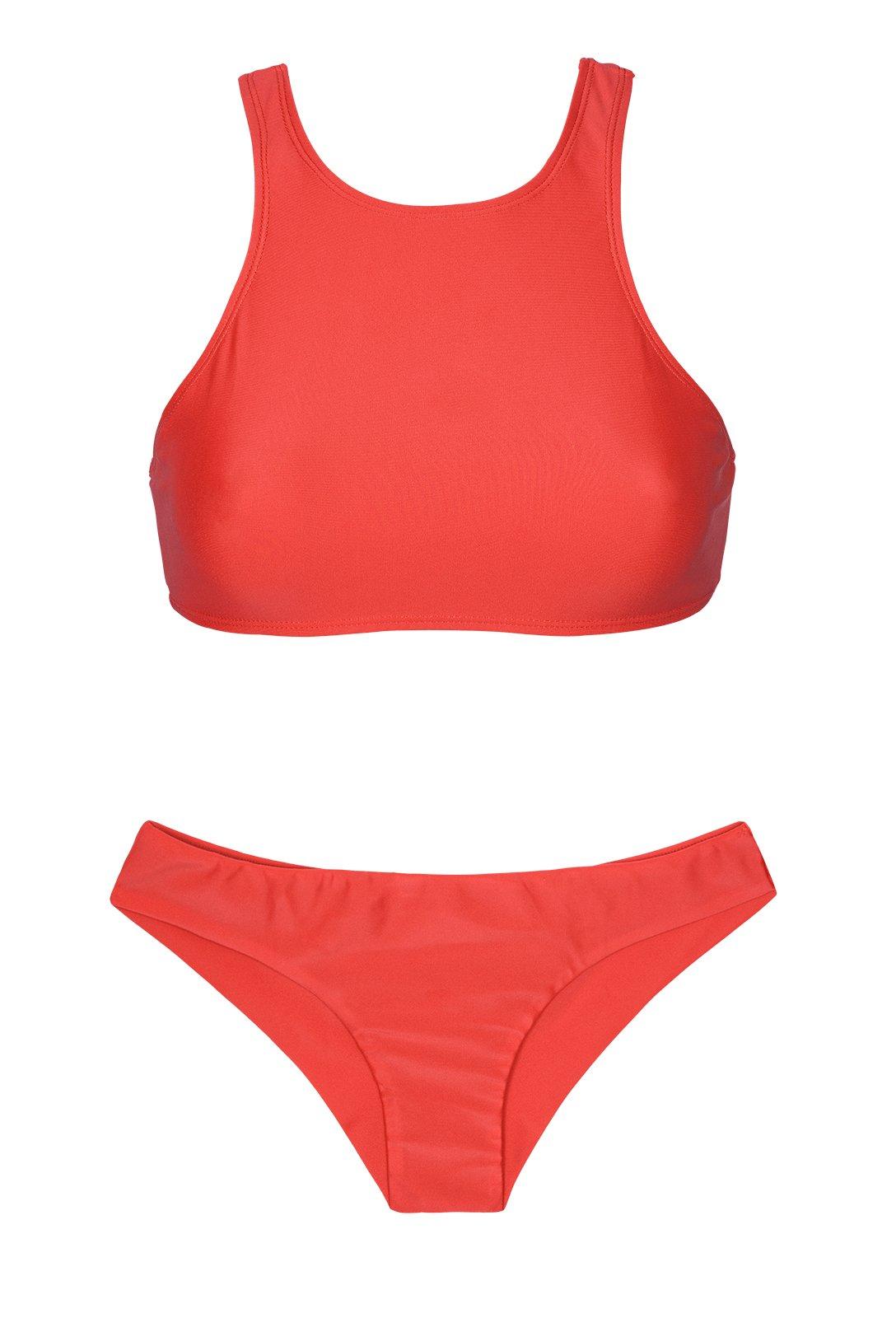 Bien-aimé Maillot de bain rouge EX23