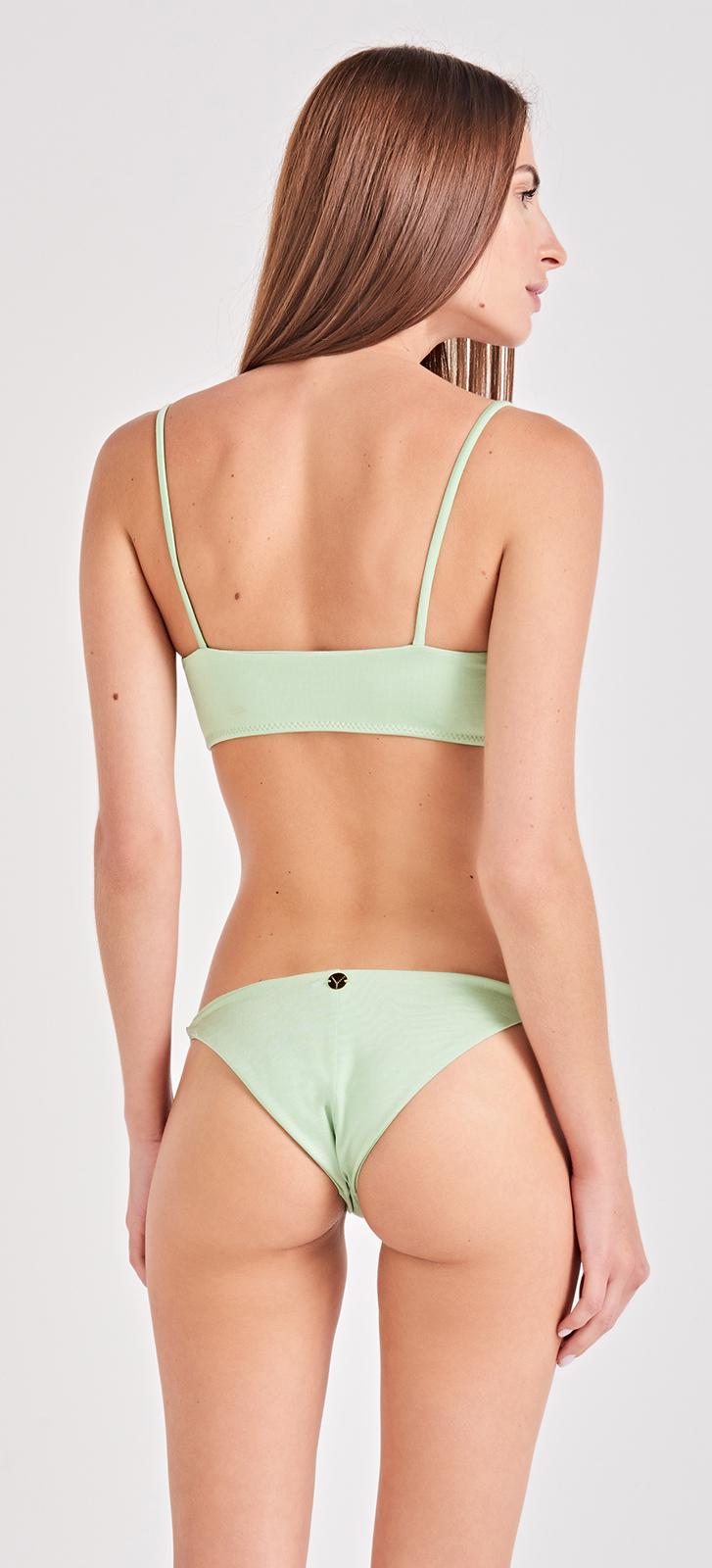 7d02fd6d2a Light Green Bra Bikini With Slim Sides Bottom - Listros Verde - Triya
