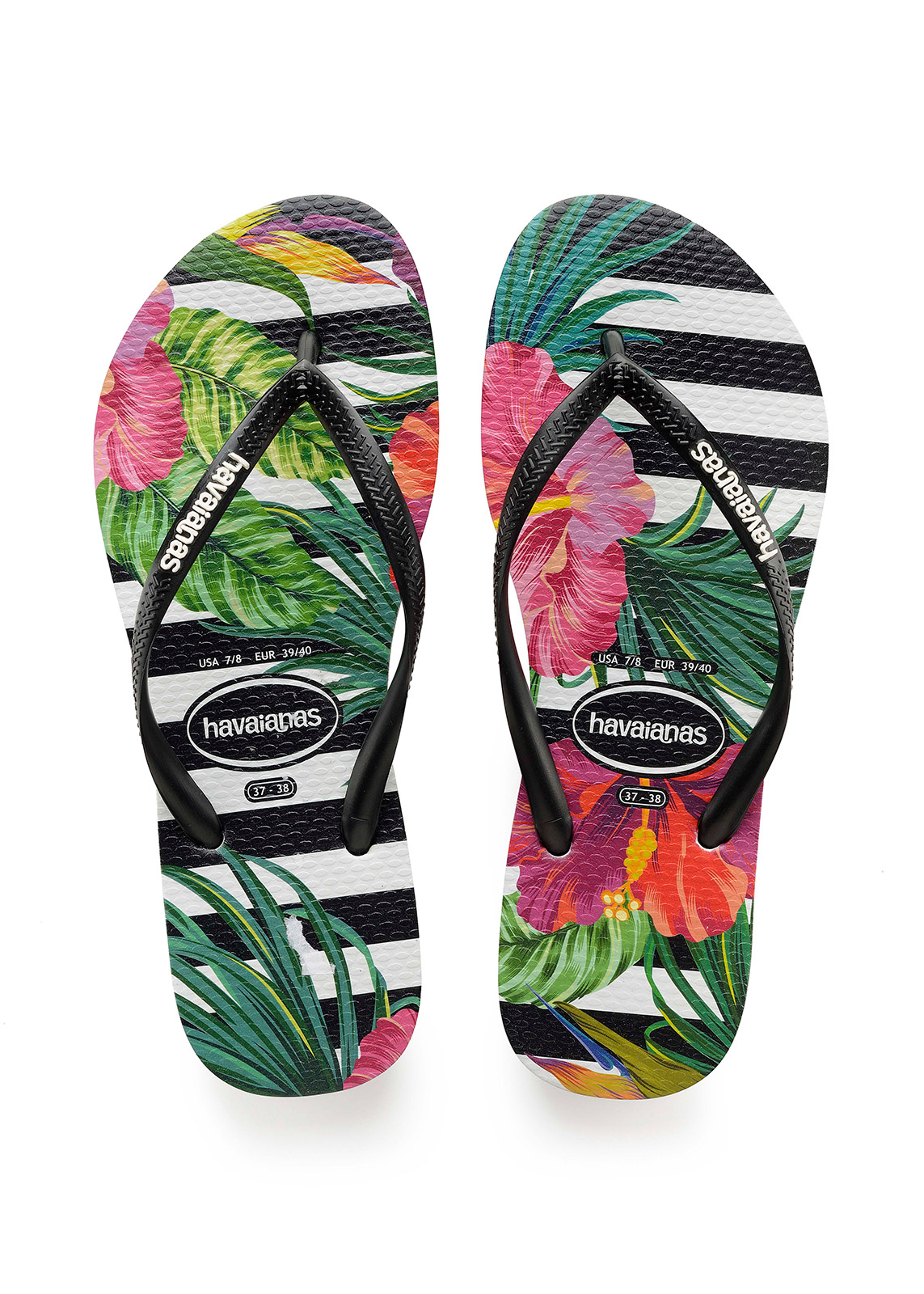 bb79f60fdbf9 Flip-Flops Havaianas Slim Tropical Floral Black black imperial Palace