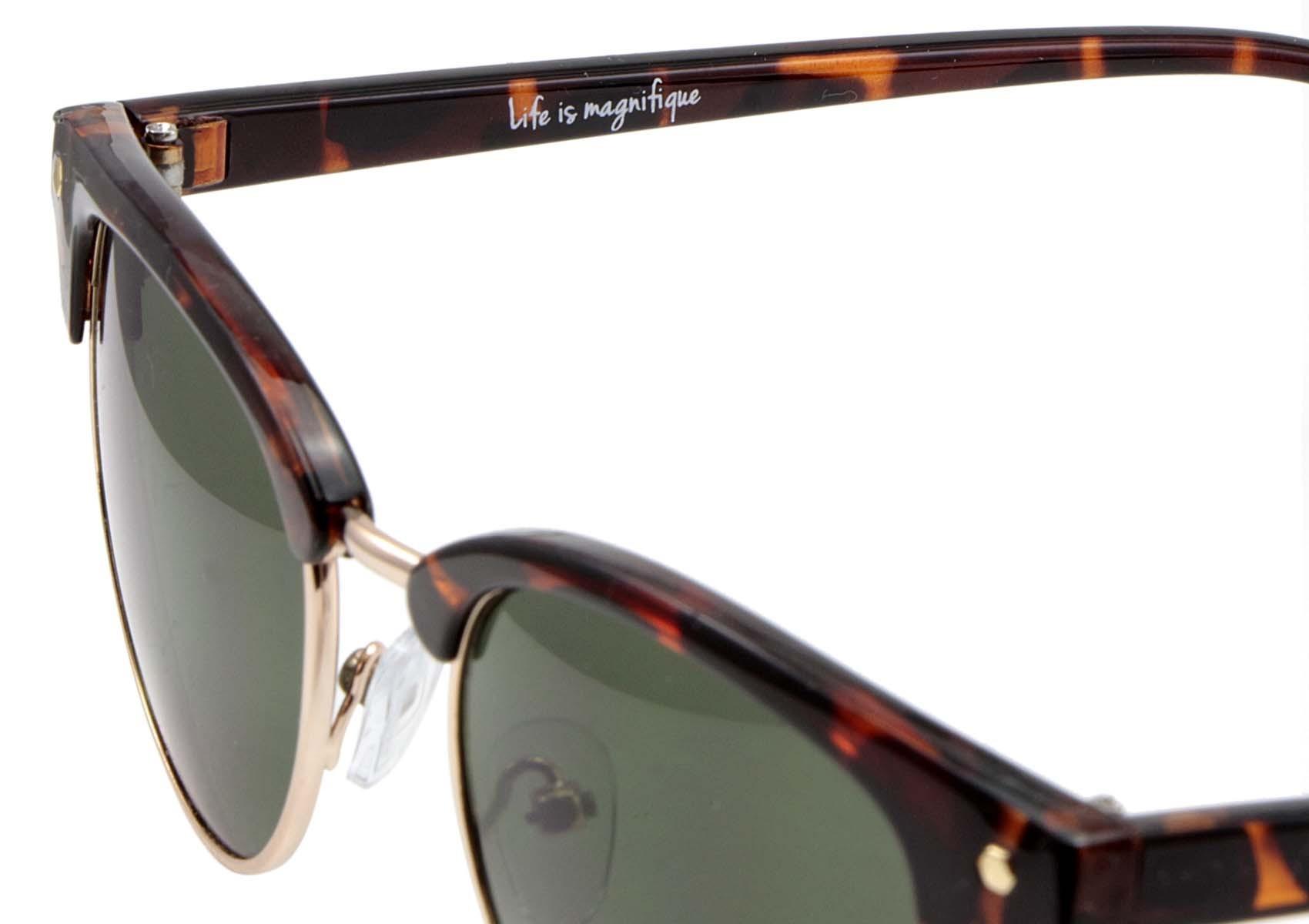 iyu design schildpatt sonnenbrille mit gr nen gl sern. Black Bedroom Furniture Sets. Home Design Ideas