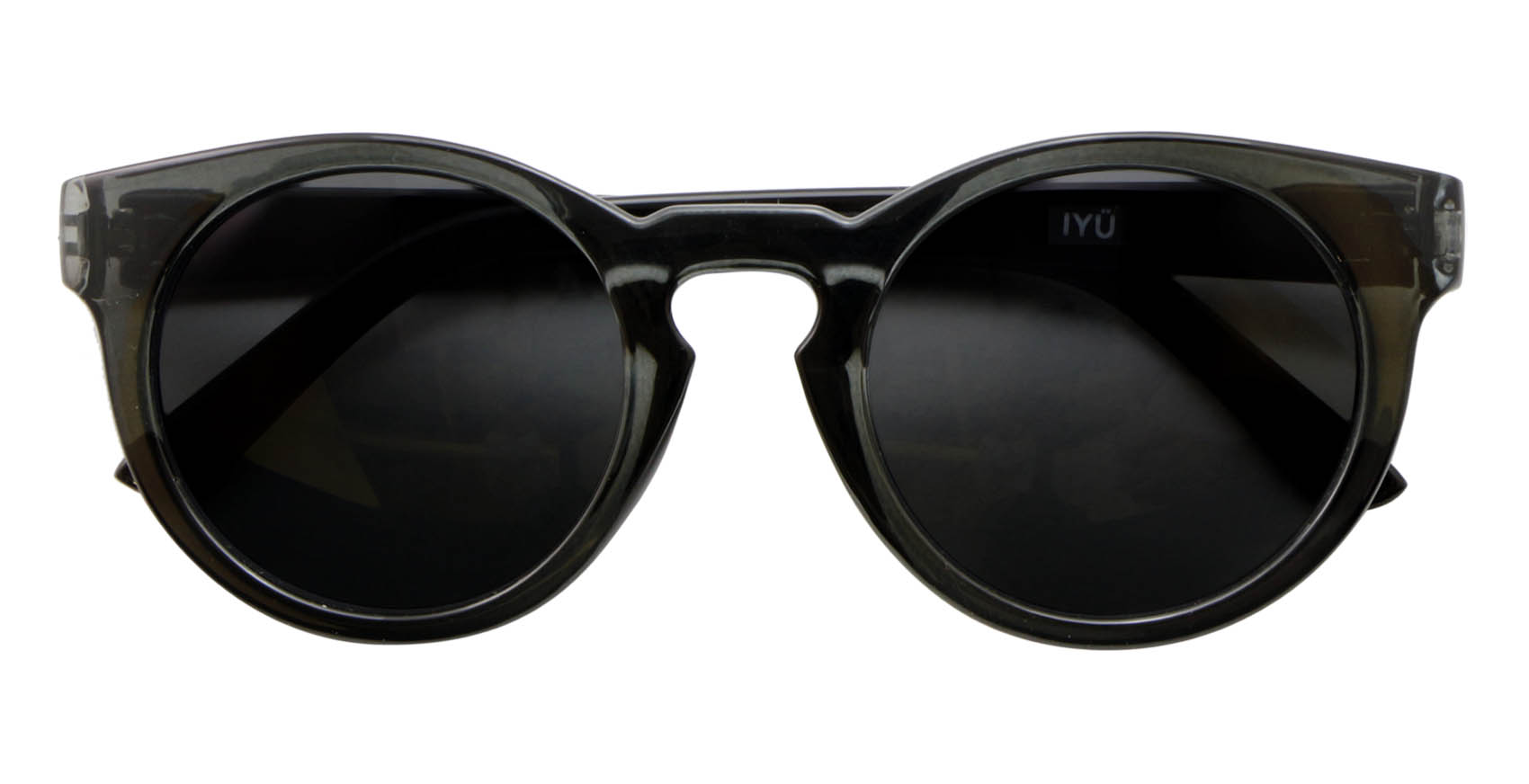Iyu Design Transparent Anthracite Sunglasses Black Lenses