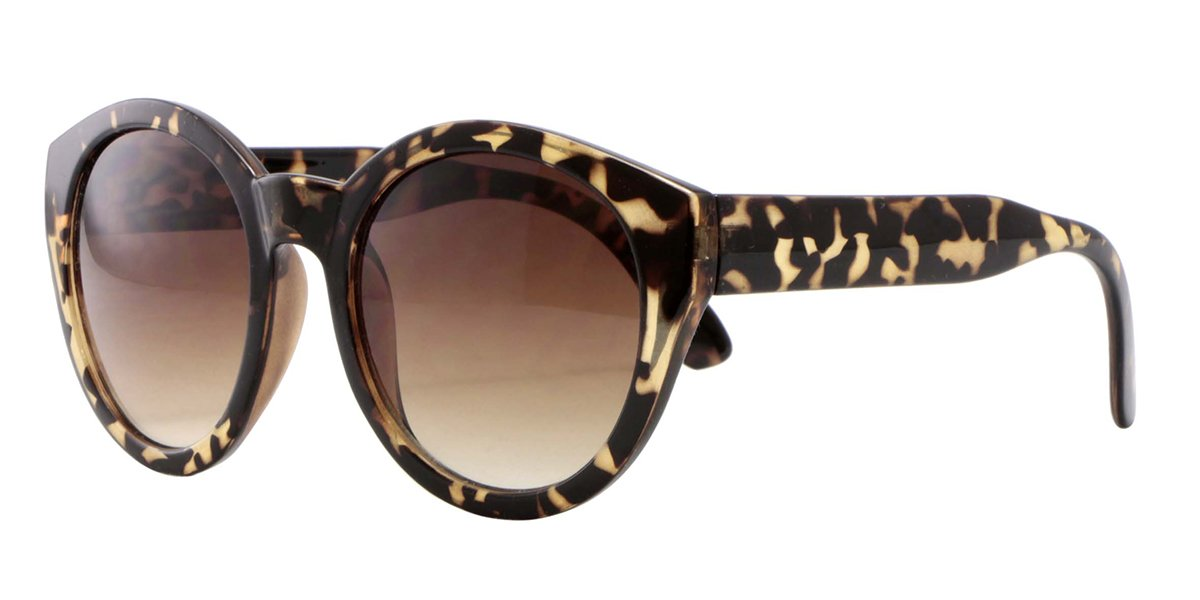Gafas de sol con montura de concha beis y cristales con - Gafas de proteccion ...