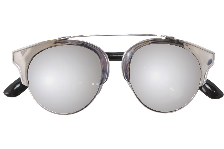 Iyu design sonnenbrille silberfarben schwarz spiegelglas - Miroir en forme de lunette ...