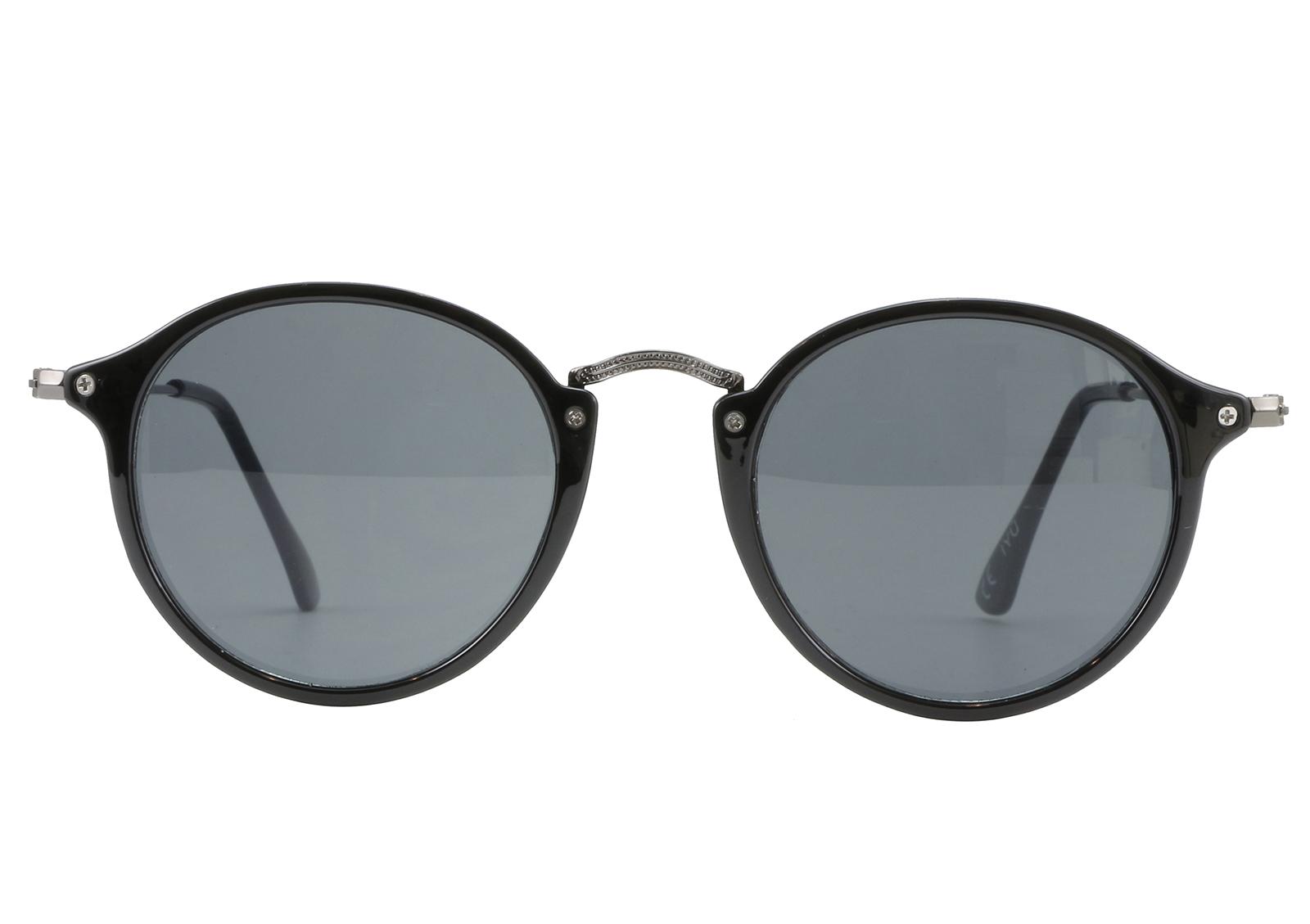 iyu design lentes de sol redondos para hombre color negro yoni noir. Black Bedroom Furniture Sets. Home Design Ideas