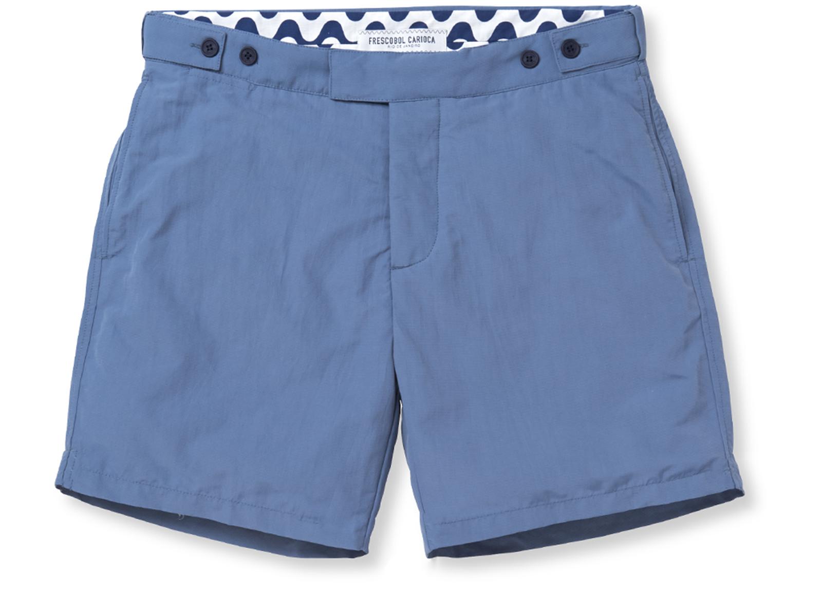 0b42685879 Swim Shorts Slim Fit Mens` Shorts In Blue - Block Tailored Short Slate