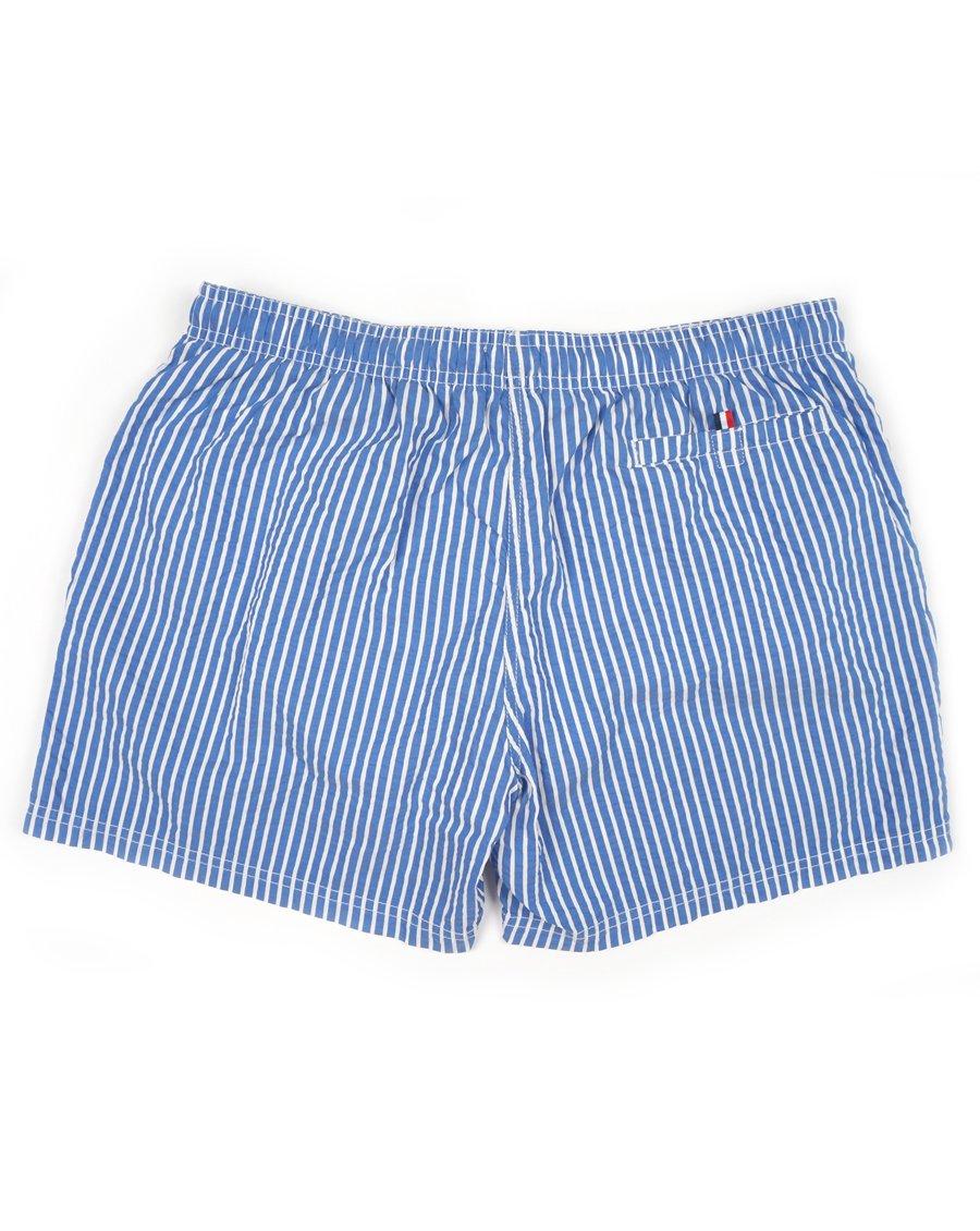 544415086e3 ... Short de bain rayé bleu marine blanc - SHORT RAYURES MARINE BLANC ...