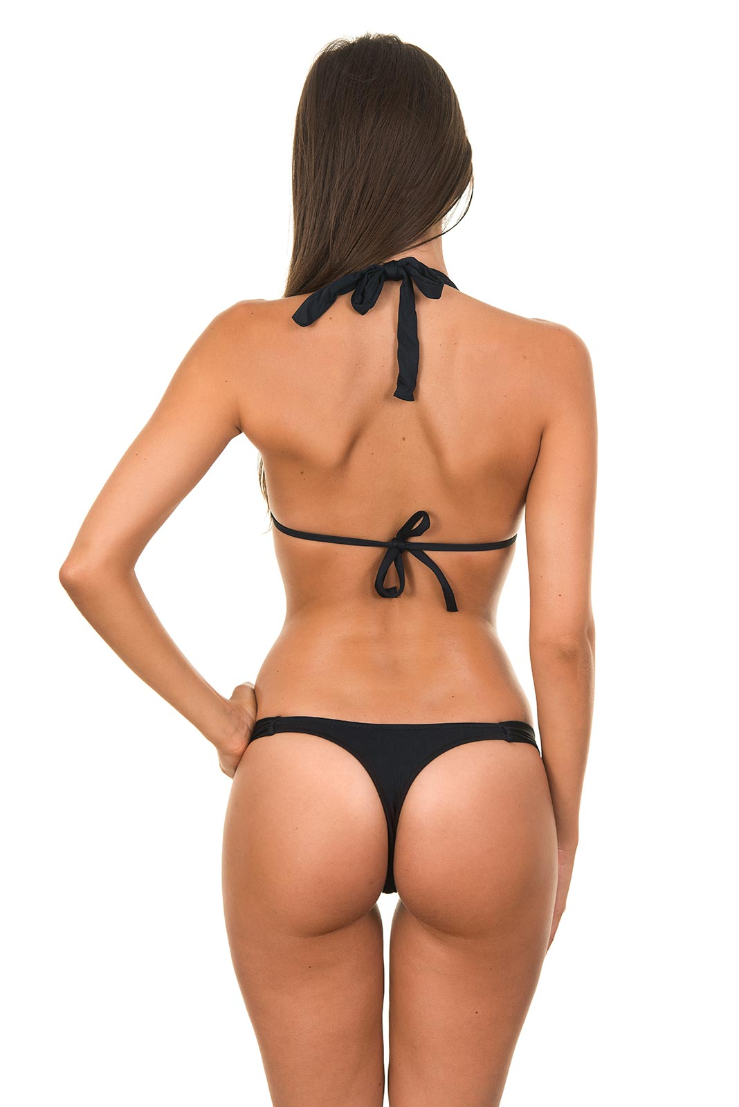 Bikini String Tanga in schwarz, RIO - mixkinicom