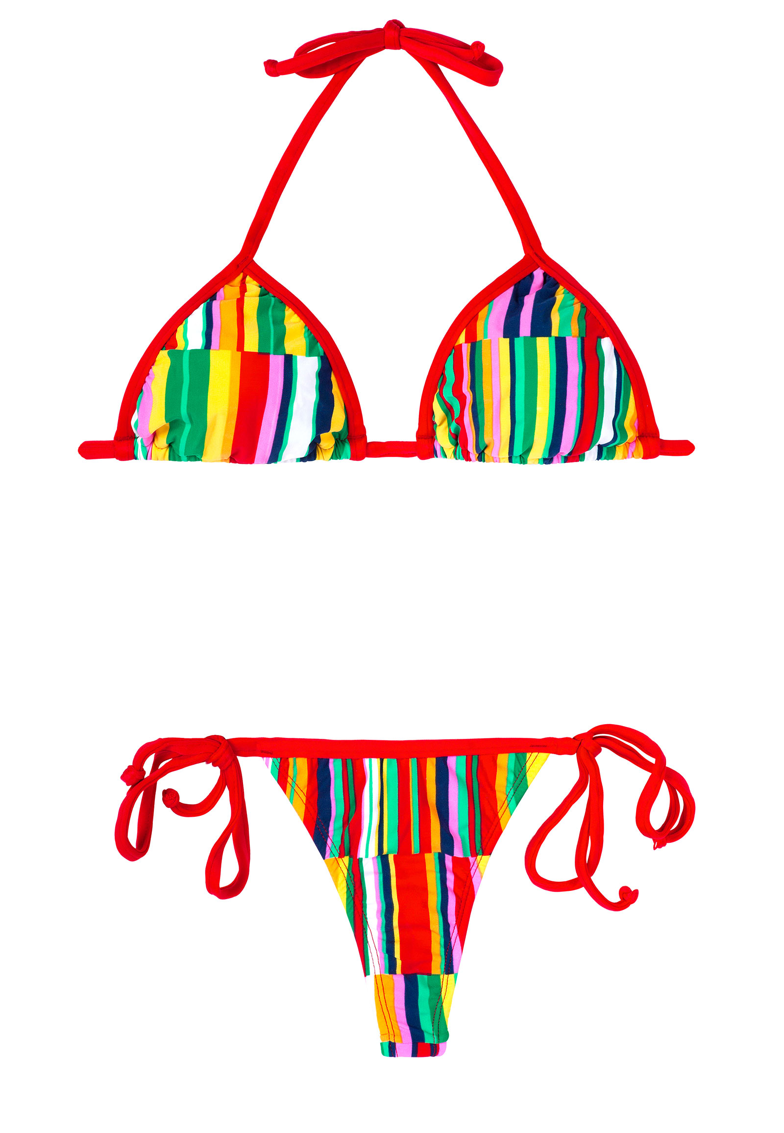 rio de sol maillot de bain string color bords rouges aguapei. Black Bedroom Furniture Sets. Home Design Ideas
