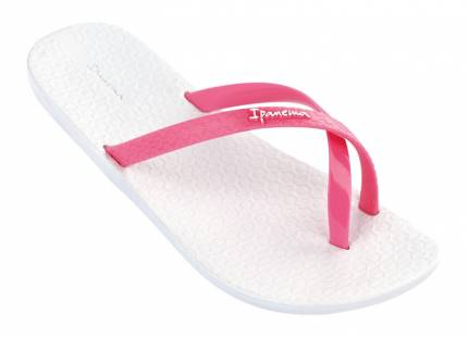 ipanema flip flops   mix color kids white pink