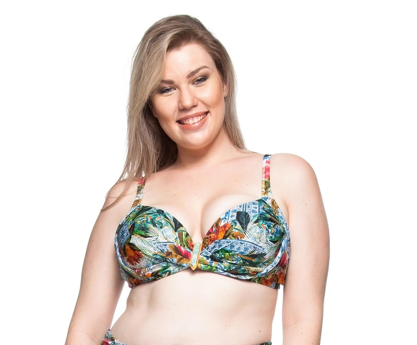 san francisco a21c5 7f5a1 Übergröße Blumenbalkon Bikini Oberteil - Top Mar Colorido