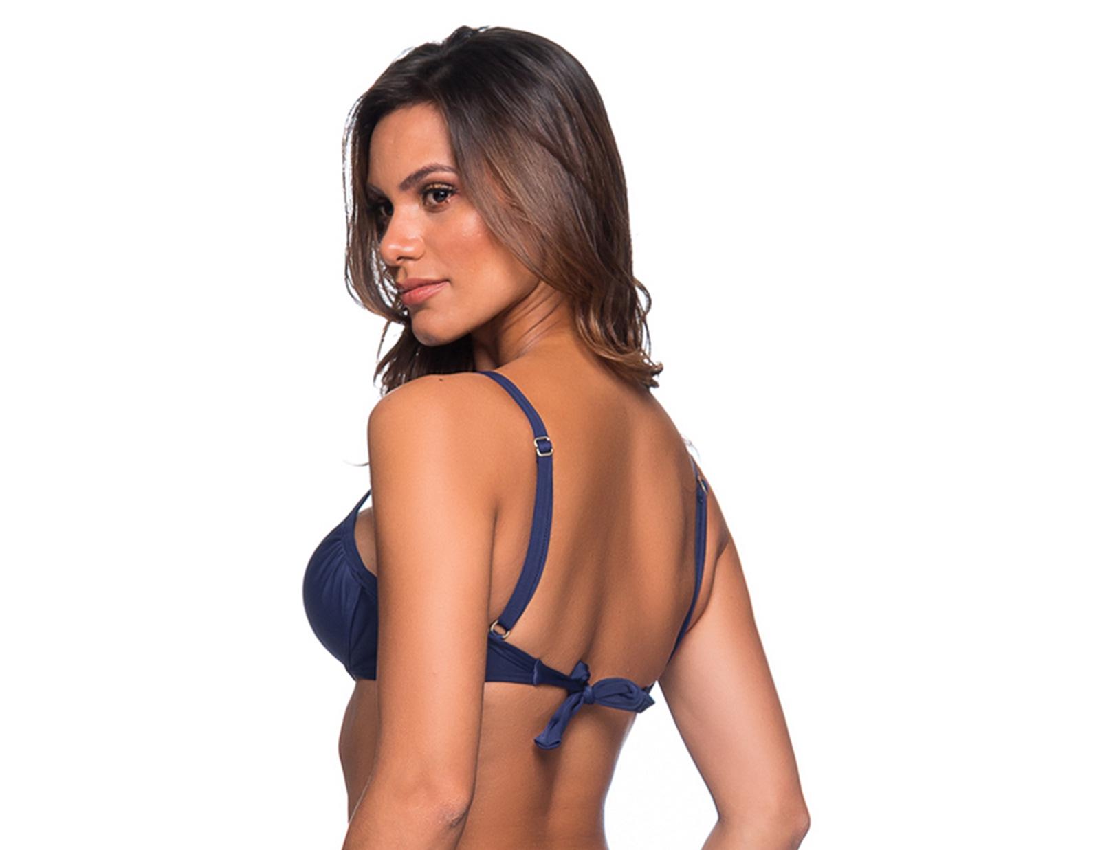 85c1ca1f44b65 Bikini-Tops Marineblauwe Balconettetop Met Beugel - Top No Miramar