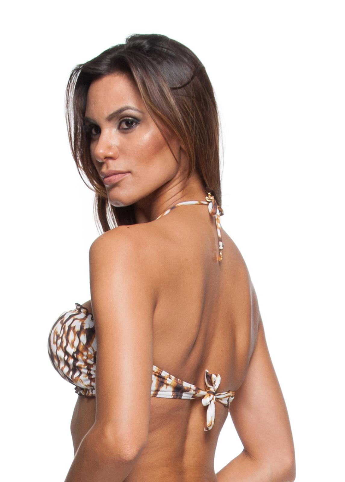 52692ffab591 ... Animal print bandeau bikini top with accessories - SOUTIEN DIVA LEOPARD