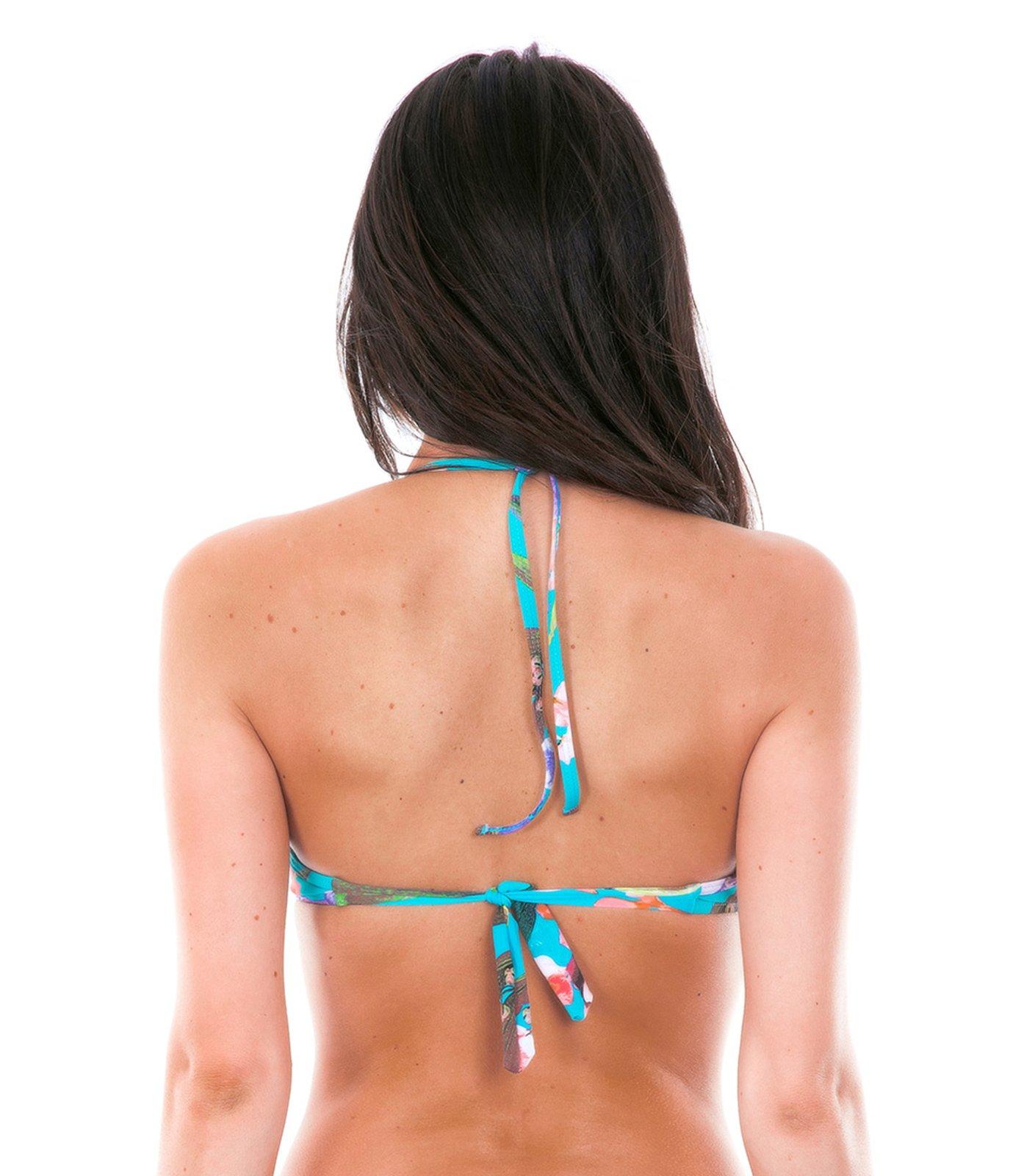 push up bikini oberteil farbe blau mit blumenmotiven. Black Bedroom Furniture Sets. Home Design Ideas