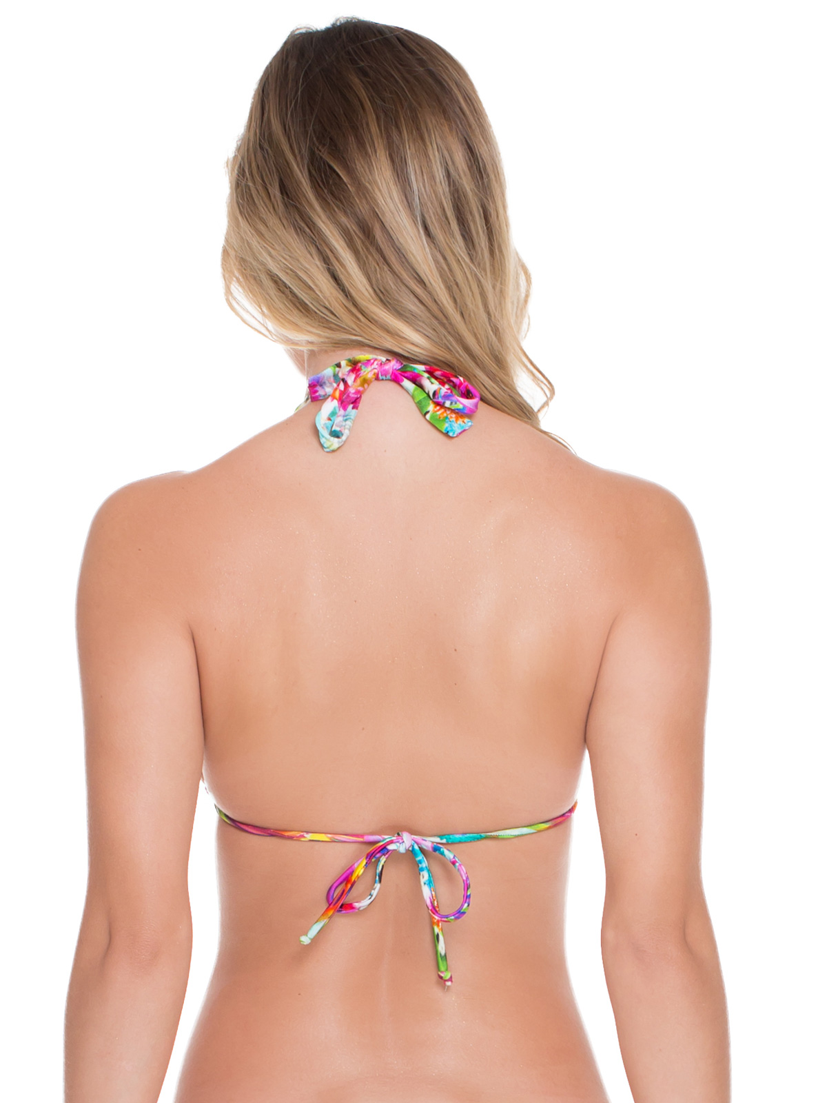 Adjustable halter bikini can tell