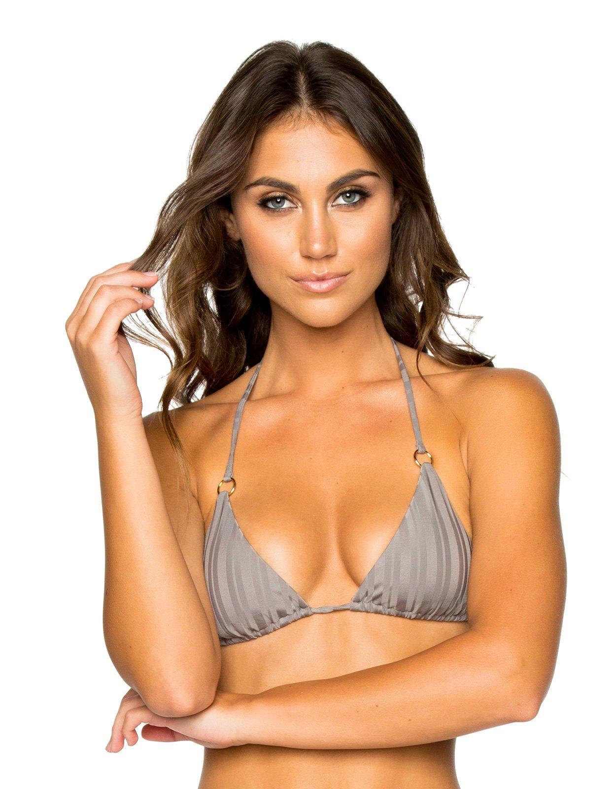 4b53da8f7aa92 Triangle grey bikini top with rings - TOP SEAMLESS GREY TURI TURAI ...