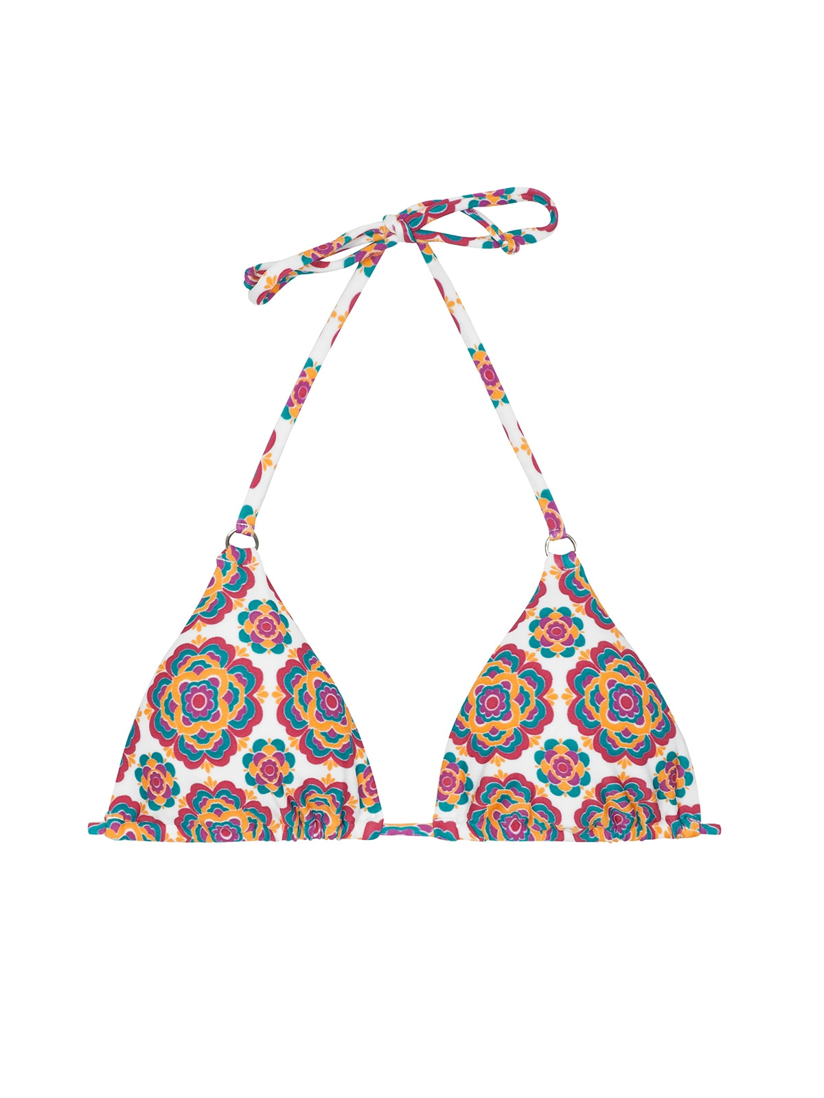 a76bc04dc Bikini Tops Retro Print Triangle Bikini Top - Soutien Beira Rio Cheeky