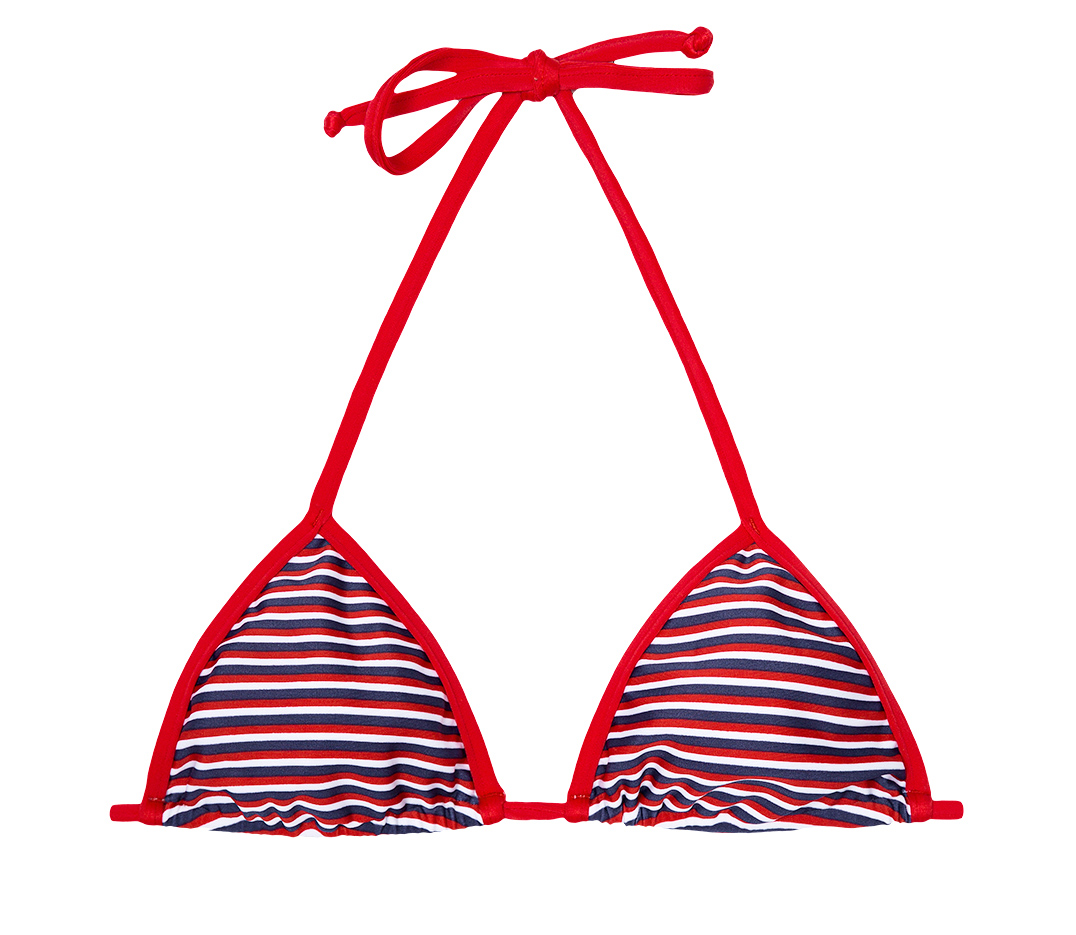 red striped bikini red white blue striped triangle bikini top soutien garoupa 4957