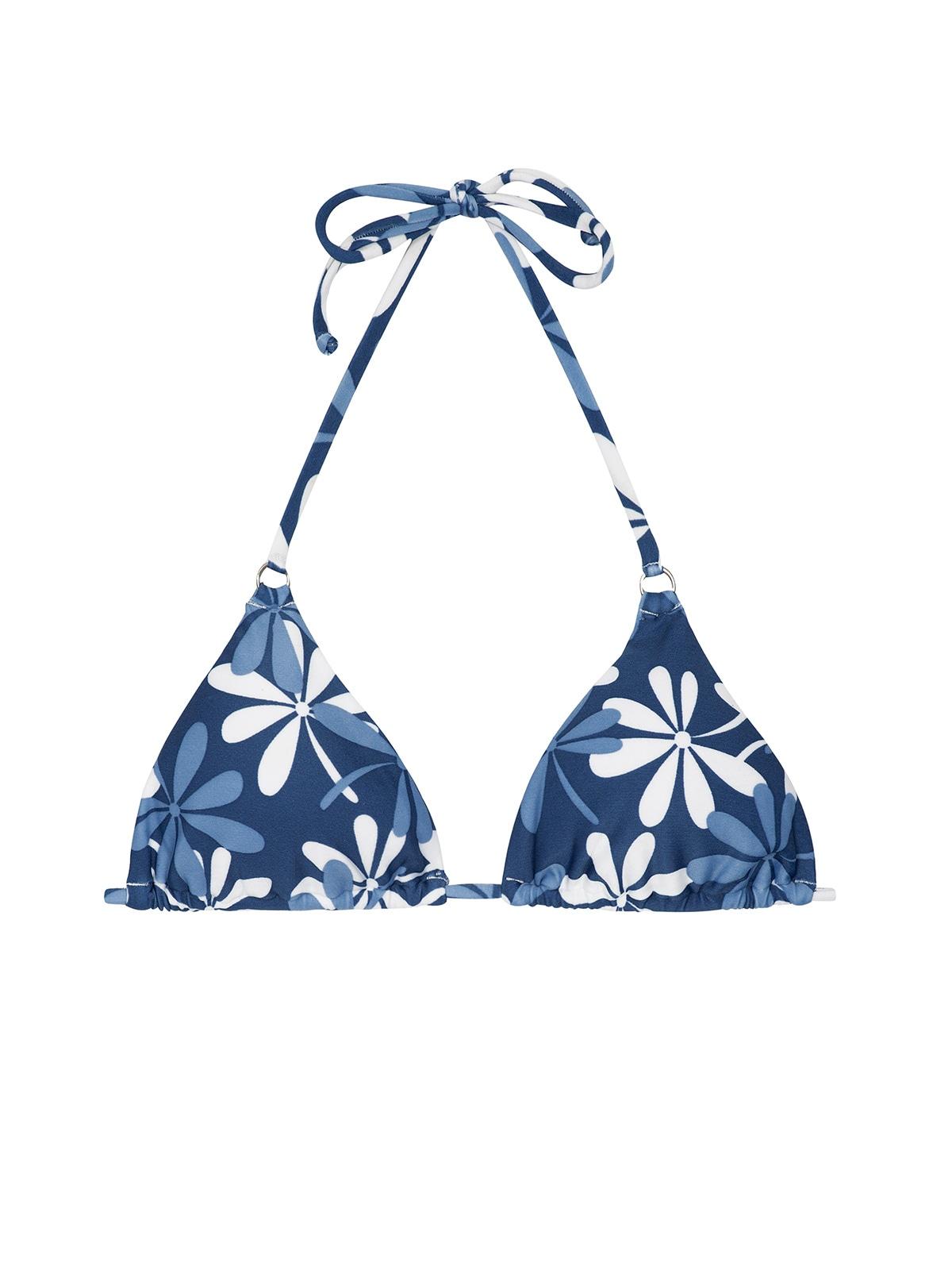 064faee23 Parte superior con forma triángulo azul y blanco con flores - SOUTIEN MARESIA  CHEEKY ...
