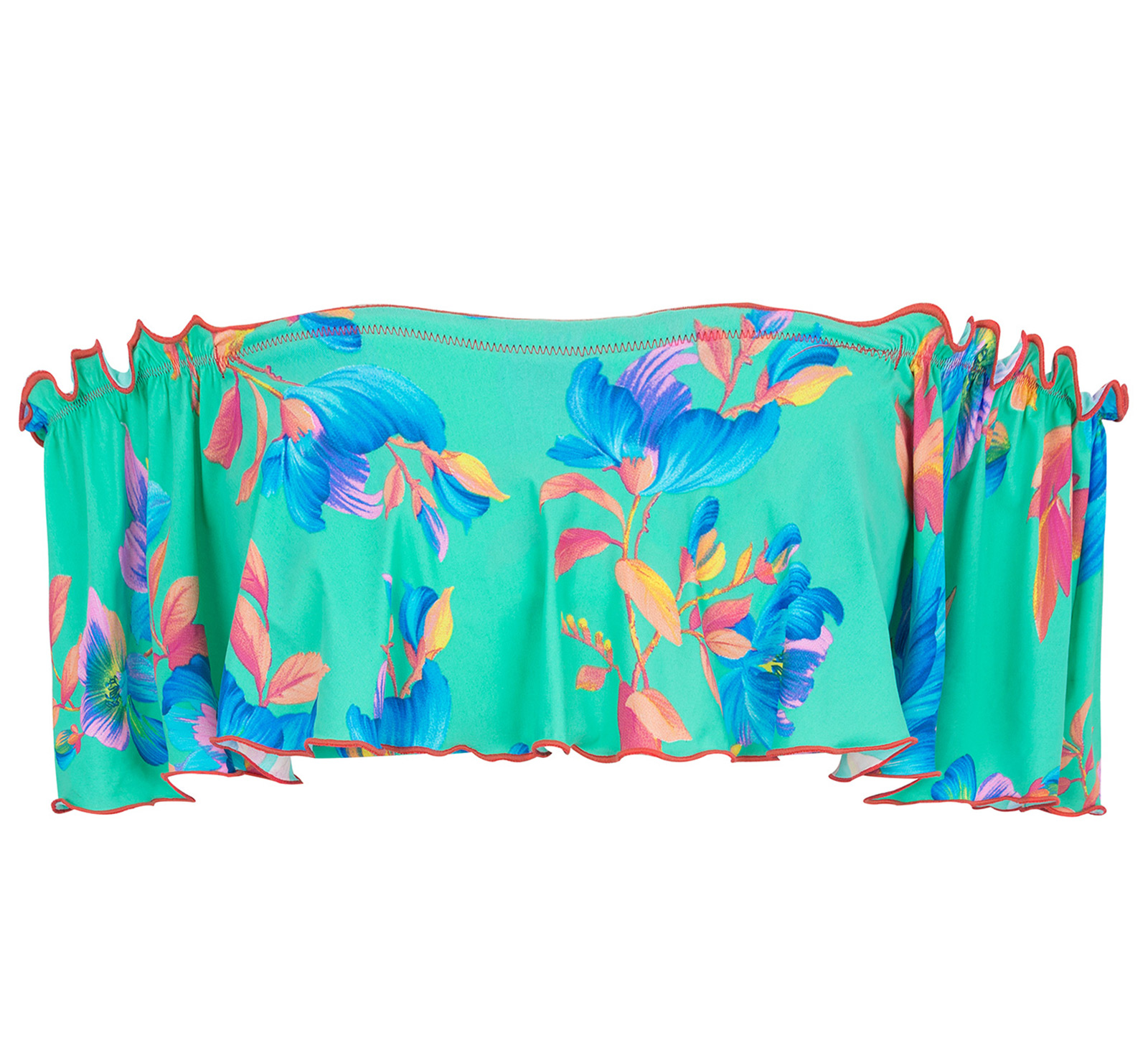 Turquoise WaterSpider Crop Top