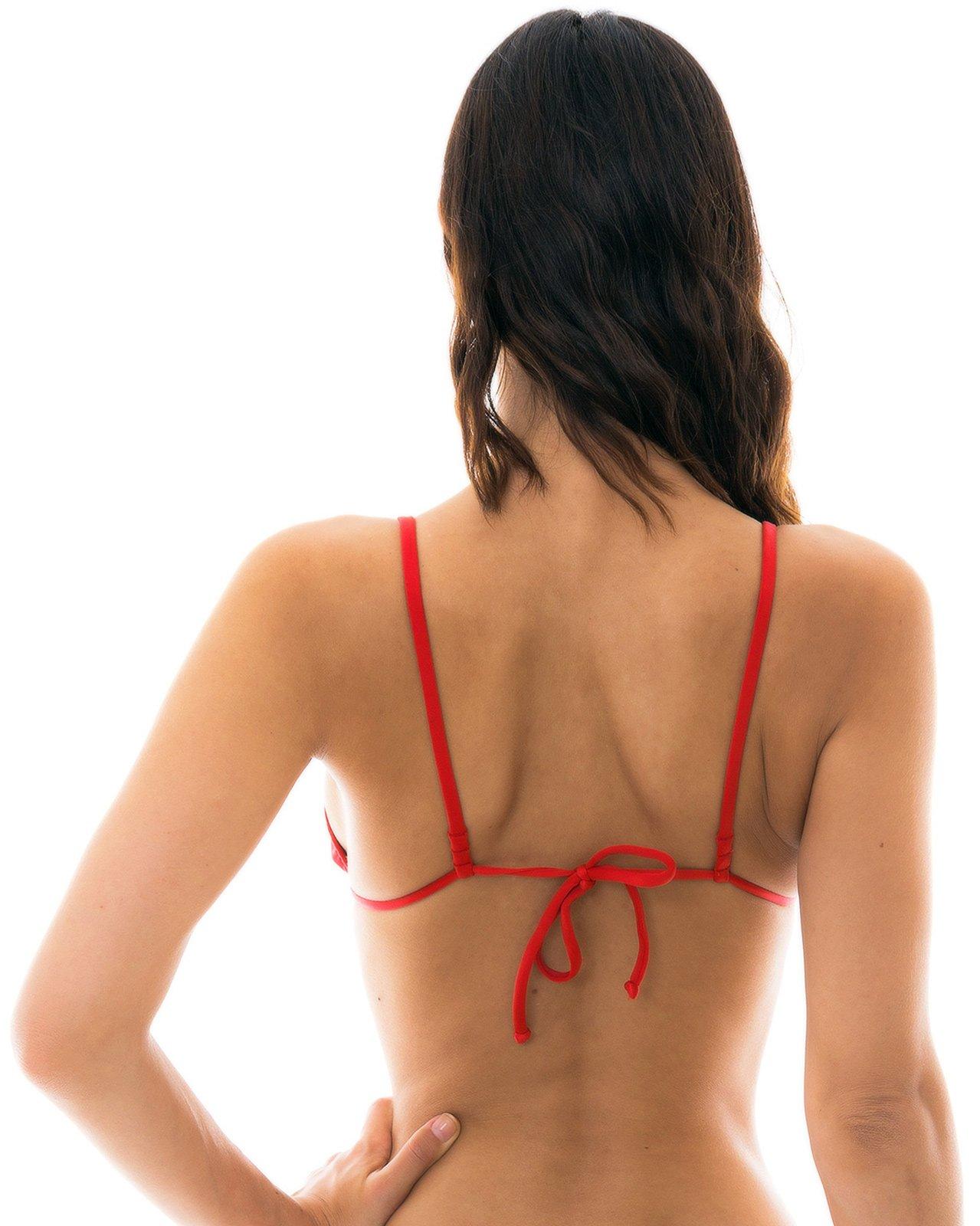 8c396fadff297 Red Triangle Bikini Top With Straight Stripes - Top Beijo Arg Fixo