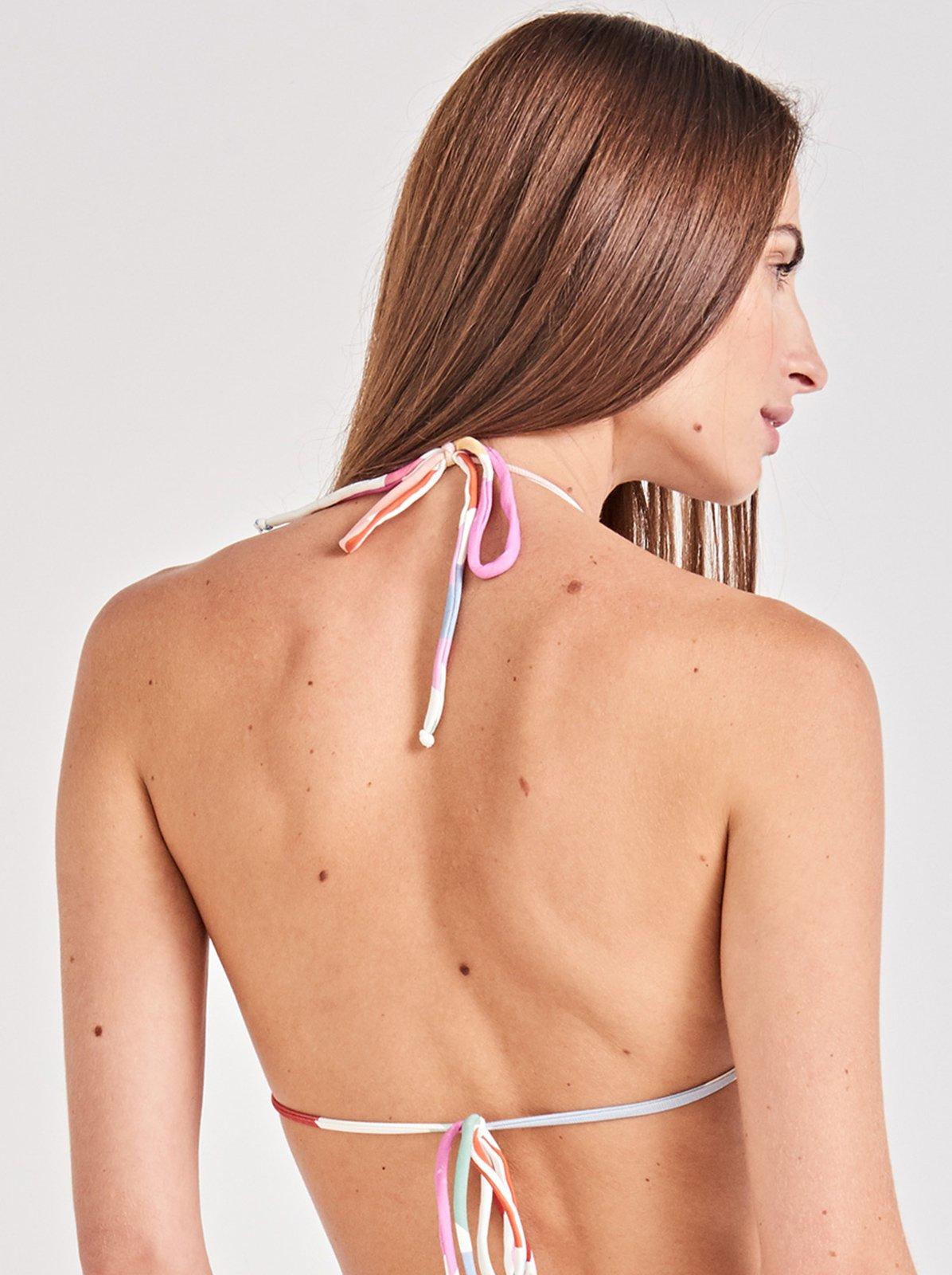 8de070f762c4f Bikini Tops Colorful Triangle Bikini Top - Top ClÁssico Artsy