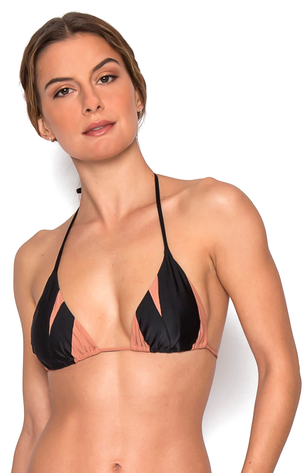 Anastasia Nude black & nude triangle bikini top - top anastasia black
